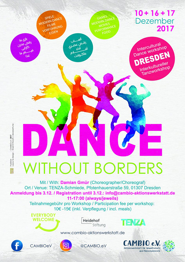 TENZA schmiede Dresden Dance without Borders Flyer