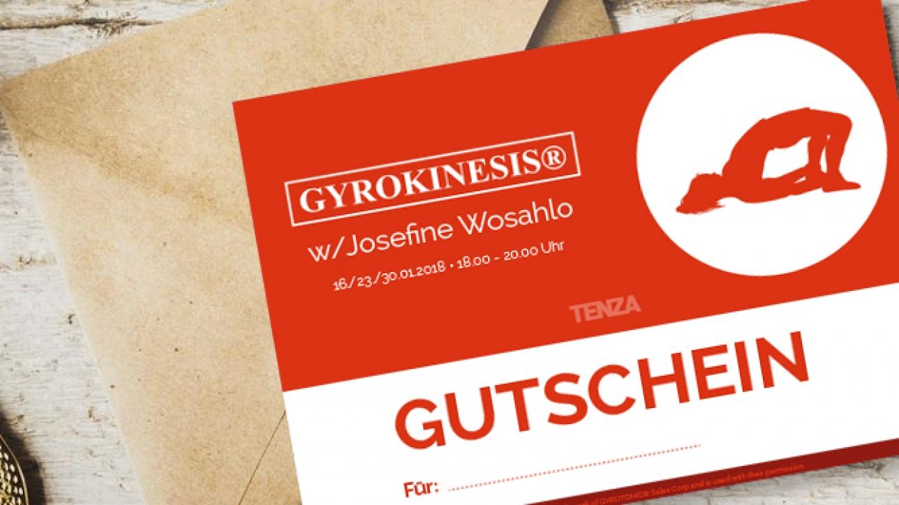 Gutschein für Gyrokinesis und alle anderen Kurse und Workshops zum Verschenken oder selber behalten. TENZA schmiede